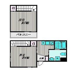 厚木市旭町3丁目アパート東棟[101号室]の間取り