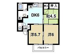 ジミニークリケット[1階]の間取り