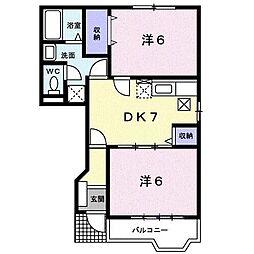 ムート21 C[1階]の間取り