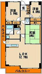 東急ドエルアルス明石東二見[9階]の間取り