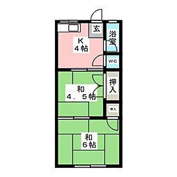 あけぼの荘[2階]の間取り