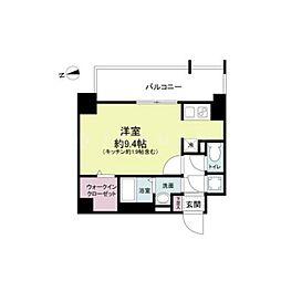 スペーシア江坂南金田 7階1Kの間取り