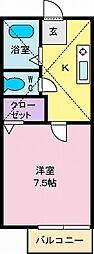 コーポ泉竜王2[2階]の間取り