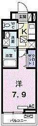 埼玉県越谷市赤山本町の賃貸アパートの間取り
