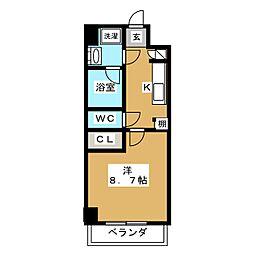 LUMINOUS千種[5階]の間取り