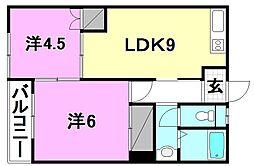 丸山マンション[302 号室号室]の間取り