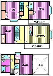 [一戸建] 埼玉県さいたま市中央区本町西3丁目 の賃貸【/】の間取り