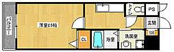 京都府京都市左京区静市市原町の賃貸アパートの間取り