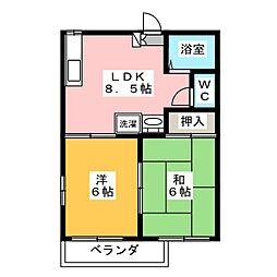 パークビレッジB[2階]の間取り
