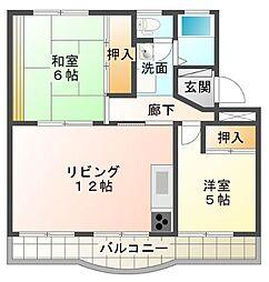 静岡県三島市加茂の賃貸マンションの間取り