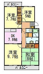 ライトコート斉藤II[104号室]の間取り