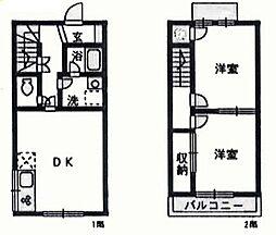 [テラスハウス] 大阪府泉佐野市上瓦屋 の賃貸【/】の間取り