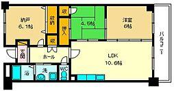 JR東西線 加島駅 徒歩1分の賃貸マンション 5階3LDKの間取り