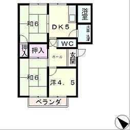 フレグランスA[1階]の間取り