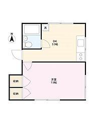 中山邸[2F-A号室]の間取り