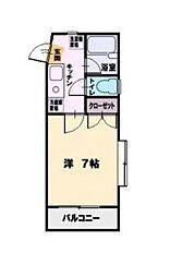 SST湘南台[101号室]の間取り