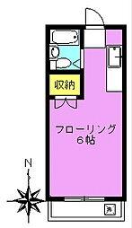 菊井コーポ[301号室]の間取り