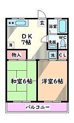 Kanon立川西(カノン立川西)[2階]の間取り