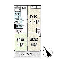 サニープレイスイシハラ 2階[202号室]の間取り