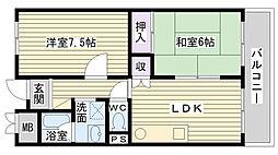 アーバン北田[603号室]の間取り