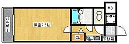 トーカンマンション久留米駅東[1005号室]の間取り
