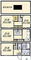 [一戸建] 大阪府大阪市港区南市岡3丁目 の賃貸【大阪府 / 大阪市港区】の間取り