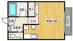 パール樋ノ沖[1C号室]の間取り