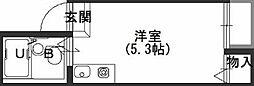 Osaka Metro長堀鶴見緑地線 松屋町駅 徒歩4分の賃貸アパート 3階ワンルームの間取り