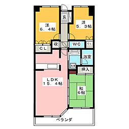 サーパス早田栄町[10階]の間取り