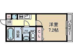 エスポアールA棟[2階]の間取り