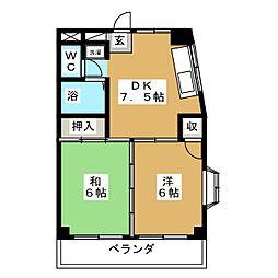 宮城県仙台市太白区西多賀5丁目の賃貸マンションの間取り