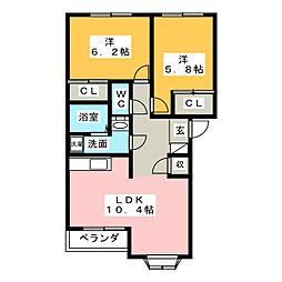 シンフォニーB[1階]の間取り