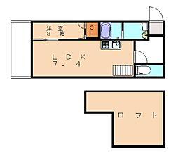 福岡県福岡市東区若宮5丁目の賃貸アパートの間取り