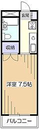 東京都東村山市本町4の賃貸マンションの間取り