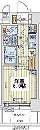 レオンコンフォート京橋EAST 11階1Kの間取り