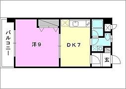 シェレナ朝生田[202 号室号室]の間取り
