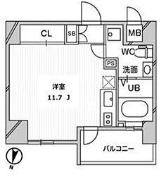 リエス千葉新宿[605号室]の間取り