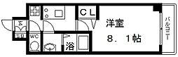 プレサンス谷町九丁目駅前 10階1Kの間取り