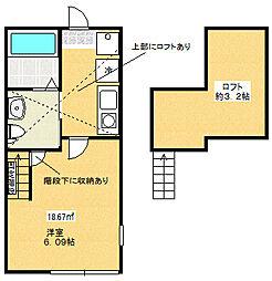 スカイビュー桜ヶ丘1階Fの間取り画像