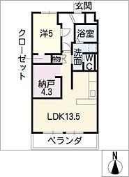 メゾンニシビ[3階]の間取り