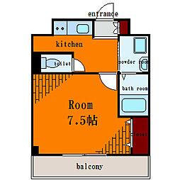 アルモニーT&M[6階]の間取り