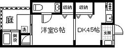 [一戸建] 福岡県福岡市中央区六本松4丁目 の賃貸【/】の間取り