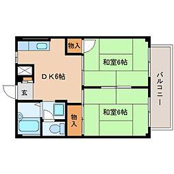 静岡県焼津市八楠の賃貸アパートの間取り