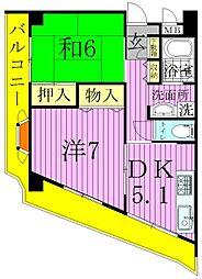 ロイヤルアヤセ[7階]の間取り