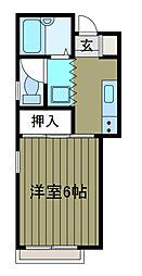 ハウスブロッサム2[2階]の間取り