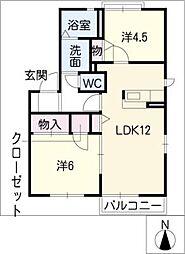レーヴフォーレスB棟[2階]の間取り