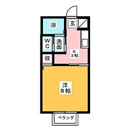 コーポ宝楽[1階]の間取り