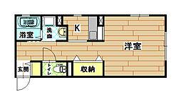 福岡県北九州市小倉北区霧ケ丘3丁目の賃貸アパートの間取り