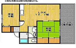 兵庫県神戸市西区竜が岡1丁目の賃貸アパートの間取り