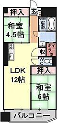 タウンハイツ醍醐[403号室号室]の間取り